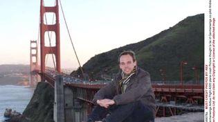 Le copilote de Lufthansa Andreas Lubitzdevant le Golden Gate Bridge (Californie), lors d'un voyage aux Etats-Unis. ( REX / SIPA )