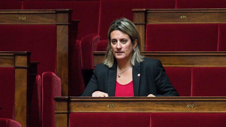 La députée LREM de la Nièvre Perrine Goulet, le 30 janvier 2018 à l'Assemblée nationale. (MAXPPP)