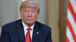 Donald Trump, le 16 juillet 2018, à Helsinki (Finlande). (SERGEY GUNEEV / AFP)