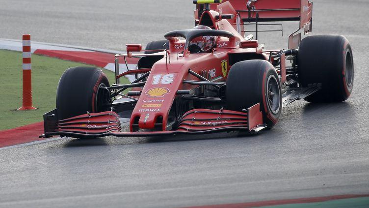 Le Monégasque Charles Leclerc au volant de sa Ferrari (KENAN ASYALI / POOL)