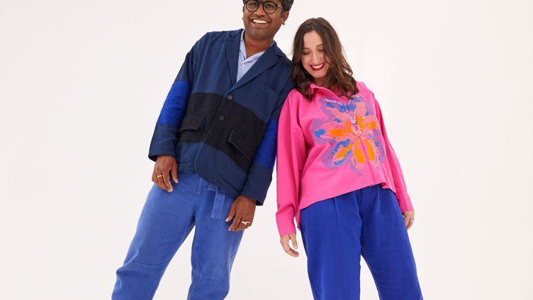 Lucie Bourreau Dutta et Bapan Dutta, les créateurs de la marque Mii (Sarah Balhade)