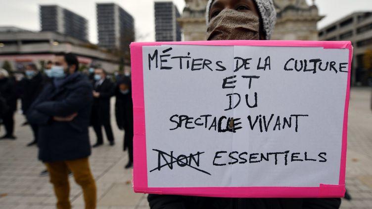 Une manifestation du secteur de la culture à Nancy, le 23 novembre 2020. Photo d'illustration. (PHOTOPQR/L'EST REPUBLICAIN/MAXPPP)