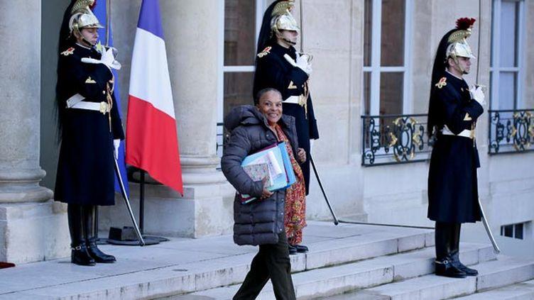 (Christiane Taubira reste ministre de la Justice © maxPPP)