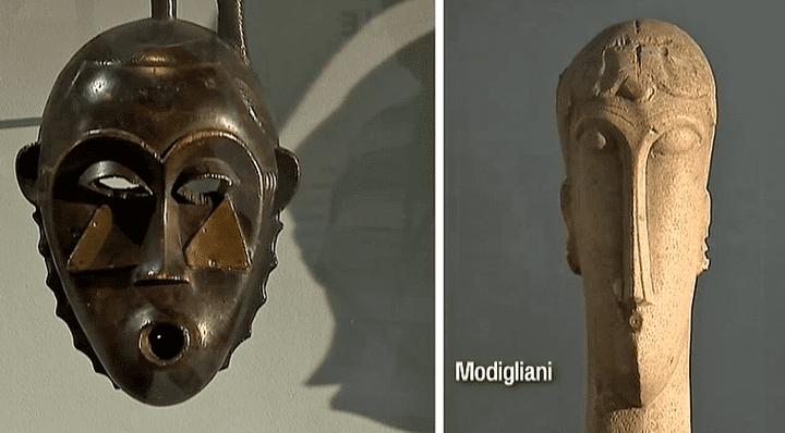 Masque de Côte d'Ivoire et sculpture de Modigliani  (France 2 / Culturebox)