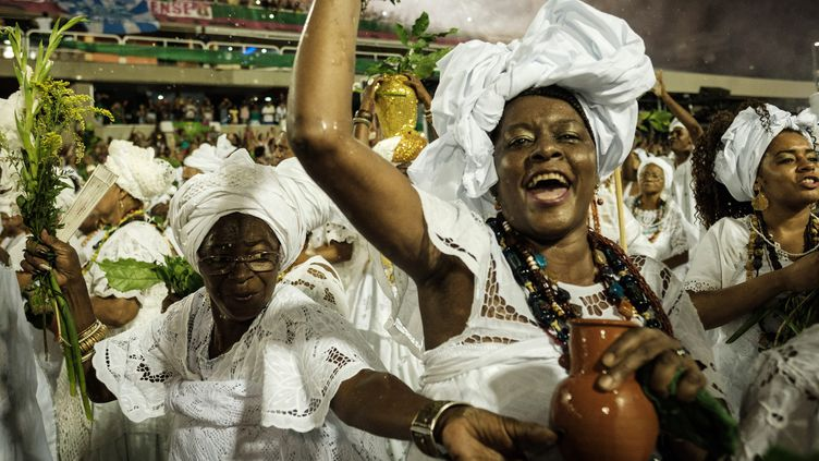 Cérémonie de purification du Sambadome avant le carnaval de Rio, 19/02/17  (Yasuyoshi Chiba / AFP)