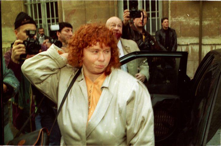 Murielle Bolle lors du procès de Jean-Marie Villemin, à Dijon (Côte-d'Or), le 3 novembre 1993. (MAXPPP)