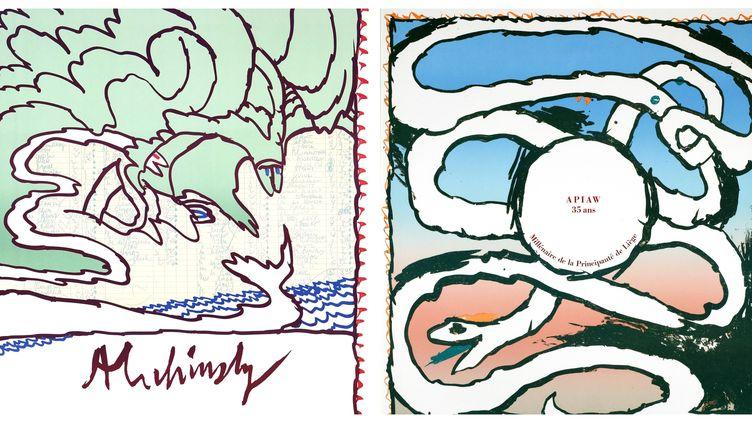 """""""Alechinsky, les affiches"""" une exposition présentée au musée de Millau jusqu'au 2 novembre (Michel Nguyen)"""
