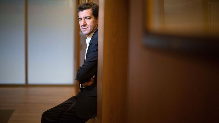 Le banquier d'affaires Matthieu Pigasse, à Paris, le 14 mars 2014. (BERNARD BISSON / JDD / SIPA / AFP)