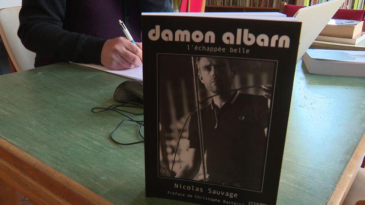 Le dernier livre de Nicolas Sauvage consacré à Damon Albarn. (CAPTURE D'ÉCRAN FRANCE 3 / DENIS COLLE)