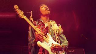 Jimi Hendrix (ici le 24 février 1969), le génie de la six cordes.  (David Redferns / Getty Images)