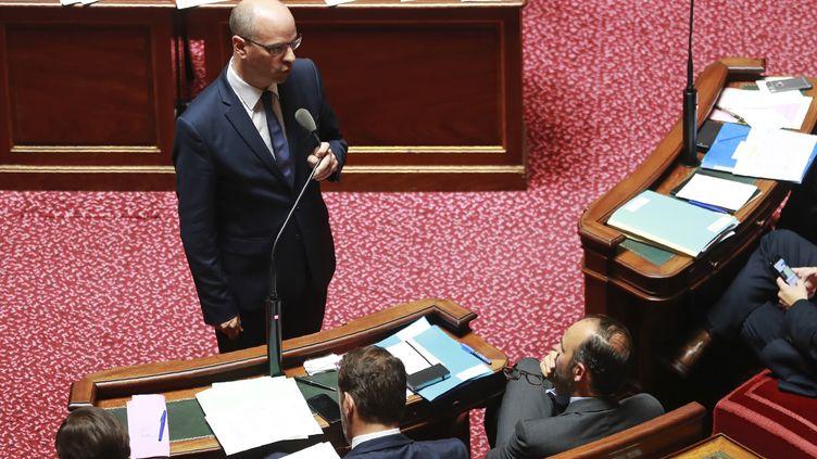Le ministre de l'Education nationale, Jean-Michel Blanquer, le 6 juillet 2017, au Sénat, à Paris. (JACQUES DEMARTHON / AFP)