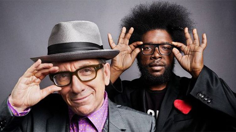 Elvis Costello et ?uestlove des Roots  (Danny Clinch / Courtesy of the artist)