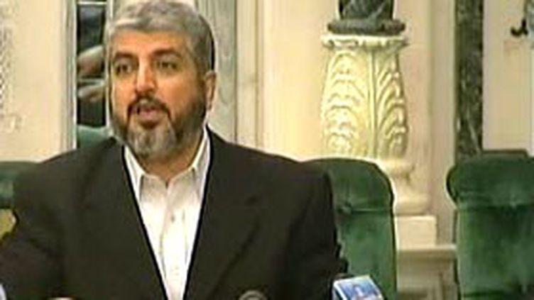 Khaled Mechaal, chef du Hamas en exil, lors des discussions interpalestiniennes de la Mecque (08/02/2007) (© France 2)