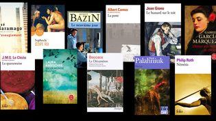 Couvertures de 15 livres inspirézs par des épidémies (FRANCEINFO)