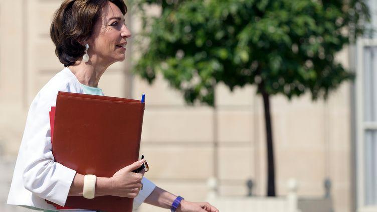 Marisol Touraine, ministre de la Santé, le 30 juillet 2014, à l'Elysée, à Paris. (KENZO TRIBOUILLARD / AFP)