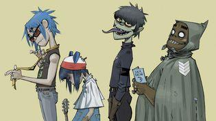 Les membres virtuels de Gorillaz imaginés et dessinés par Jamie Hewlett, co-créateur du groupe avec Damon Albarn.  (Jamie Hewlett)