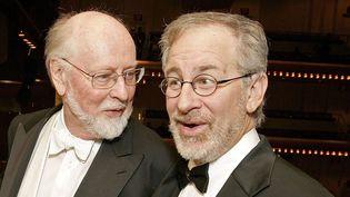 Le compositeur John Williams et le réalisateur Steven Spielberg à New York en 2006  (STEPHEN CHERNIN/AP/SIPA )