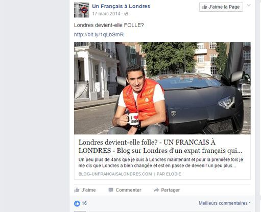 Capture d'écran de Facebook (Capture d'écran de Facebook)