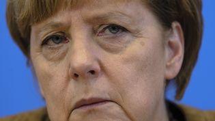 La chancelière allemande Angela Merkel, le 18 juillet 2014 à Berlin (Allemagne). (CLEMENS BILAN / AFP)