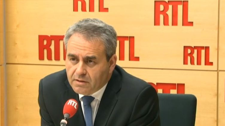 Xavier Bertrand, député UMP de l'Aisne, sur RTL, le 21 juillet 2014. (RTL / FRANCETV INFO)