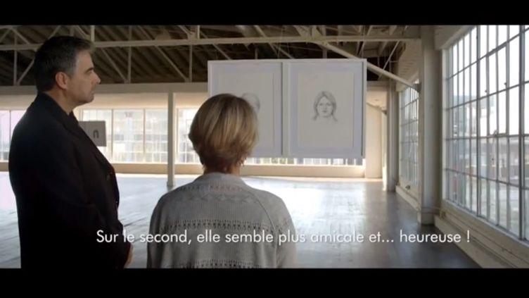 Capture d'écran d'une vidéo mise en ligne par la marque Dove, et montrant une expérience sur la perception de notre beauté. (YOUTUBE / FRANCETV INFO)