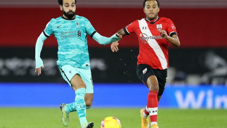 Salah (Liverpool) à la lutte avec Bertrand (Southampton) (NAOMI BAKER / POOL)