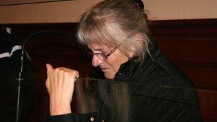 Jacqueline Sauvage à la cour d'appel d'assises de Blois (Loir-et-Cher), le 3 décembre 2015. (PHILIPPE RENAUD / MAXPPP)
