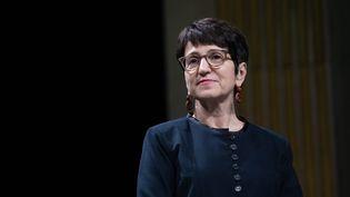Dominique Versini, adjointe à la Maire de Paris chargée des solidarités, de la protection de l'enfance, de la lutte contre les exclusions et de l'accueil des réfugiés. (CHRISTOPHE MORIN / MAXPPP)