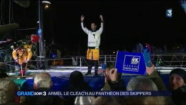 Vendée Globe : Armel Le Cléac'h au panthéon des skippers