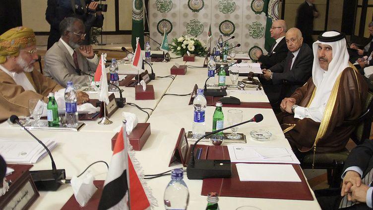 Réunion de la Ligue arabe sur la situation en Syrie, le 24 novembre 2011 au Caire (Egypte). (REUTERS)