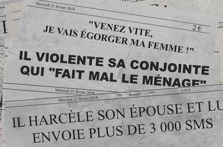 Des titres d'articles parus dans la presse quotidienne régionale en février 2018. (VINCENT WINTER / FRANCEINFO)