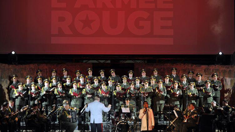 Concert des Choeurs de l'Armée Rouge en Tunisie, en juillet 2013. (FETHI BELAID / AFP)