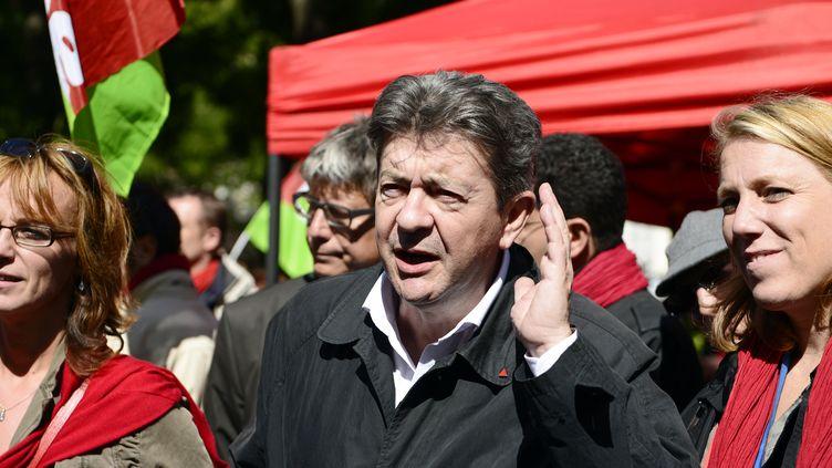 Jean-Luc Mélenchon, le coprésident du Parti de gauche, le 10 septembre 2013 à Paris. (ERIC FEFERBERG / AFP)