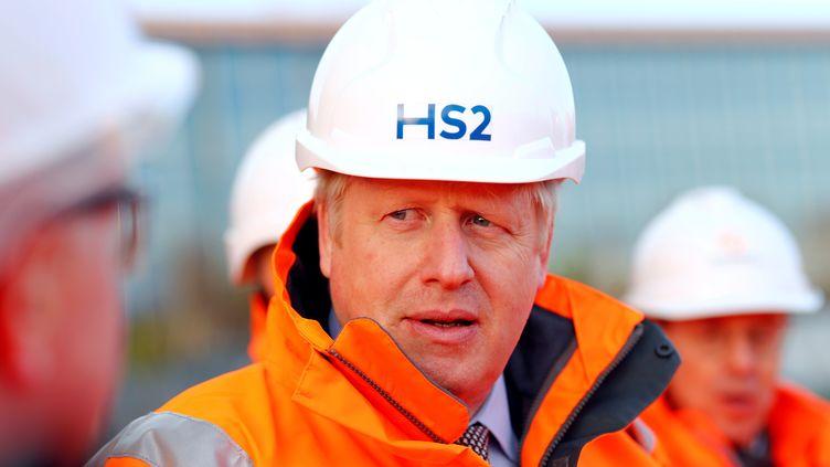 Boris Johnson visite le chantier du High Speed 2. (EDDIE KEOGH / POOL)