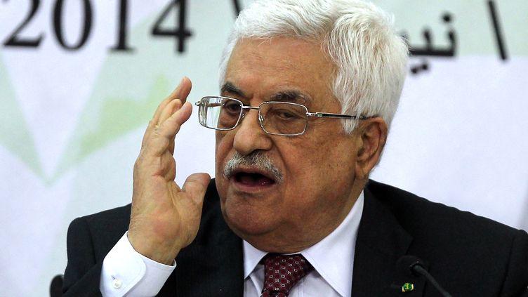 Le président de l'autorité palestinienne Mahmoud Abbas, à Ramallah le 26 avril 2014. (ABBAS MOMANI / AFP)