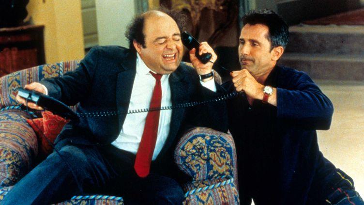 """Une scène du film """"Le Dîner de cons"""", sorti en 1998, avecJacques Villeret et Thierry Lhermitte. (REX FEATURES / SIPA)"""