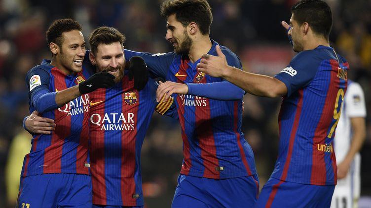 Le Barça s'est amusé face à la Real Sociedad (LLUIS GENE / AFP)