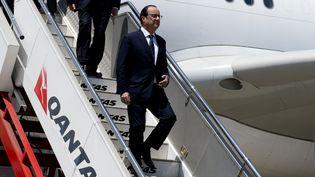 Le président français, François Hollande, arrive à Sydney (Australie), où il est en visite officielle, mardi 18 novembre 2014. (ALAIN JOCARD / AFP)