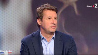 Yannick Jadot, eurodéputéEurope Écologie-Les Verts, sur le plateau de France 2, le 28 juin 2020. (FRANCE 2)
