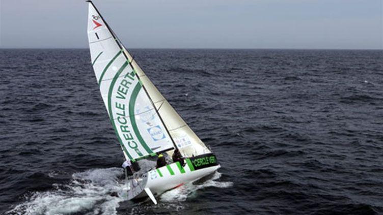 Gildas Morvan et Bertrand de Broc à la barre de Cercle Vert