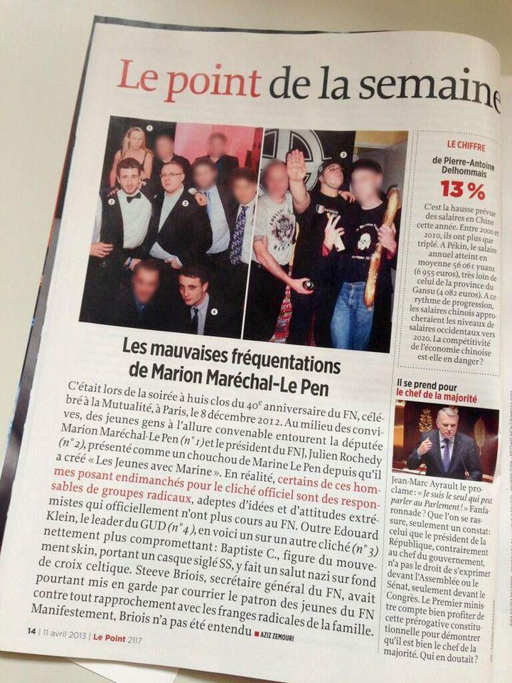 Capture d'écran d'un article de Le Point daté du 11 avril 2013. (DR)