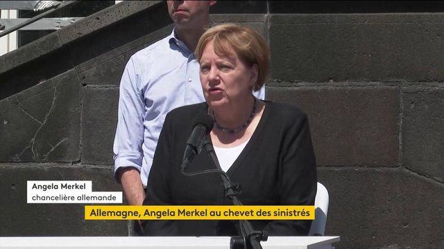 Allemagne : Angela Merkel s'est rendue auprès des sinistrés après les inondations meurtrières