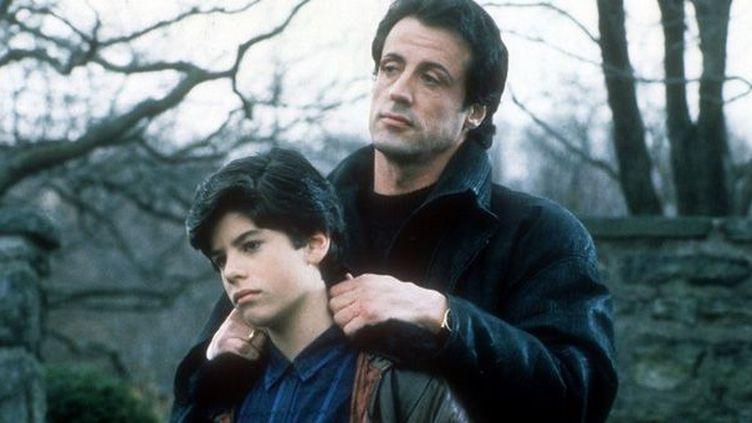 Sylvester Stallone avec son fils Sage dans Rocky V (1990)  (Photo12 / AFP)