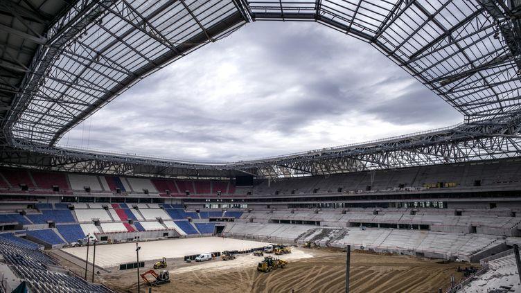 Le futur grand stade de l'Olympique Lyonnais (JEFF PACHOUD / AFP)