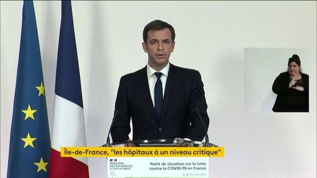 """VIDEO. Covid-19 : """"D'ici trois semaines, nous aurons vacciné plus de 10 millions de personnes"""", promet Olivier Véran"""