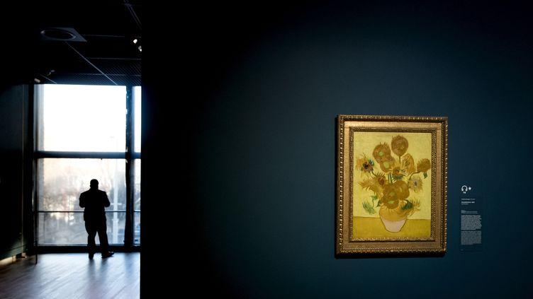 "Les ""Tournesols"" de Vincent van Gogh, au musée Van Gogh d'Amsterdam (25 février 2019) (KOEN VAN WEEL / ANP / AFP)"