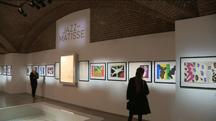 """Exposition Jean-Matisse. Ces oeuvres sont issues de l'ouvrage """"Jazz"""" offert par le peintre au Palais des Beaux-Arts de L'illes  (France 3)"""