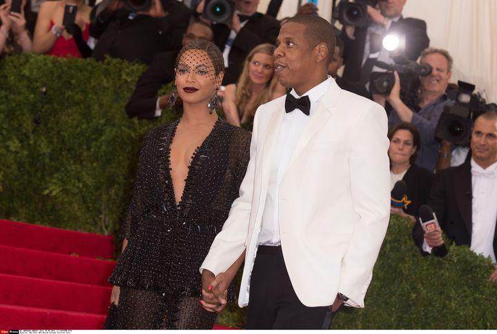 Beyoncé et Jay Z lors du gala du MoMa à New York (Etats-Unis), le 5 mai 2014. (NIVIERE/SIPA)