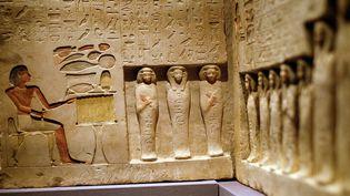 """Une vue de l'exposition """"Ancient Egypt Transformed"""" au MET de NY qui ouvre ses portes le 12 octobre 2015.  (Jewel Samad / AFP)"""