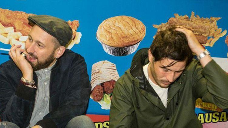 Guillaume Brière et Benjamin Lebeau de The Shoes, très attendus au festival des Inrocks 2014.  (Romain B.James)
